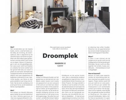 De droomplek Maison 12 in De Standaard magazine